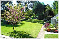 Picture of a garden on Landscaping page